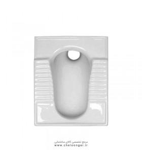 توالت زمینی (ایرانی) گلسار مدل نیلوفر 18