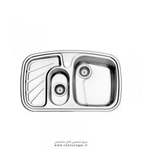 سینک ظرفشویی استیل البرز کد 608