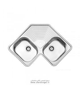سینک ظرفشویی استیل البرز کد 540