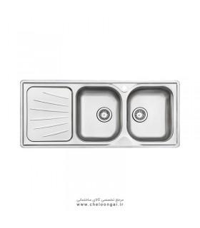 سینک ظرفشویی استیل البرز کد 214