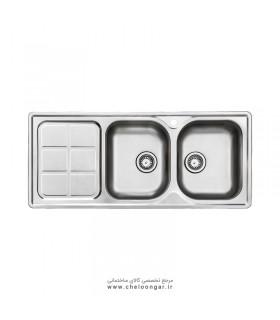 سینک ظرفشویی توکار استیل البرز کد 215
