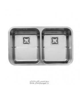 سینک ظرفشویی زیر صفحه ای استیل البرز کد 935