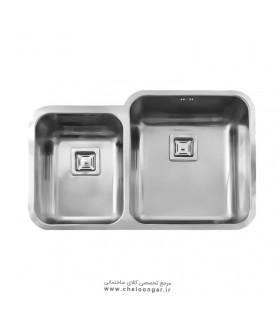 سینک ظرفشویی زیر صفحه ای استیل البرز کد 905