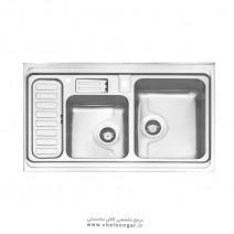 سینک ظرفشویی کد 812 روکار استیل البرز