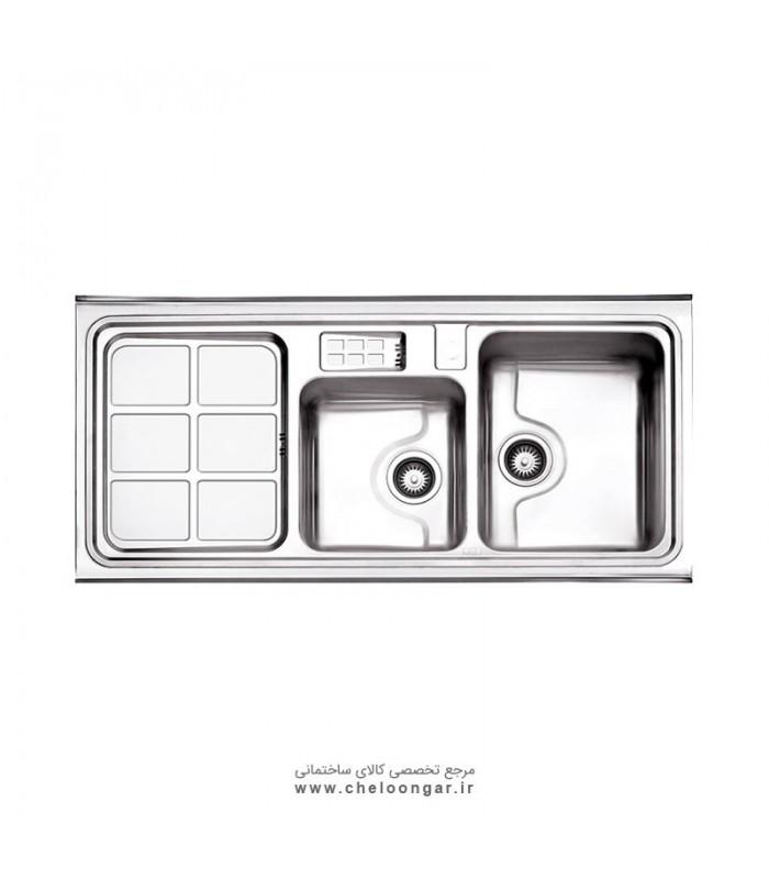سینک ظرفشویی کد 815 روکار استیل البرز