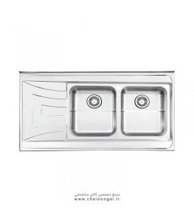 سینک ظرفشویی کد 736 رو کار استیل البرز