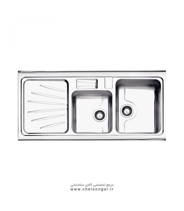 سینک ظرفشویی کد 814 روکار استیل البرز