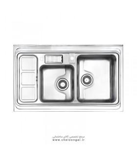 سینک ظرفشویی کد 813 روکار استیل البرز