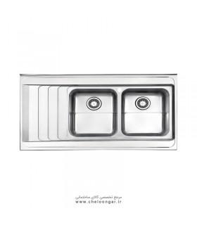 سینک ظرفشویی کد 734 روکار استیل البرز