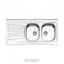 سینک ظرفشویی کد 725 روکار استیل البرز