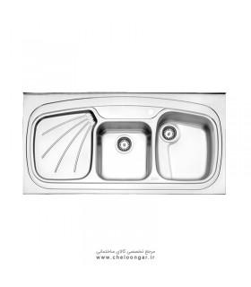 سینک ظرفشویی کد 614 روکار استیل البرز