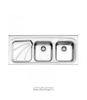 سینک ظرفشویی کد 612 روکار استیل البرز