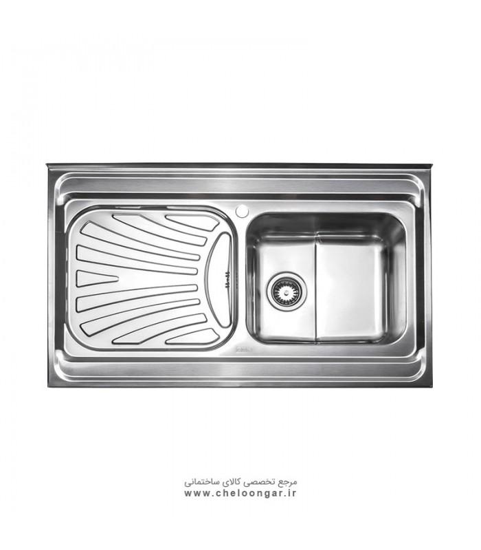 سینک ظرفشویی کد 711 روکار استیل البرز
