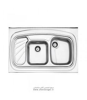 سینک ظرفشویی کد 611 روکار استیل البرز