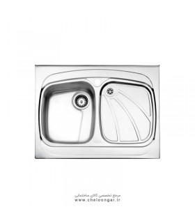 سینک ظرفشویی کد 618 روکار استیل البرز