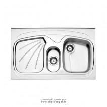 سینک ظرفشویی کد 610 روکار استیل البرز