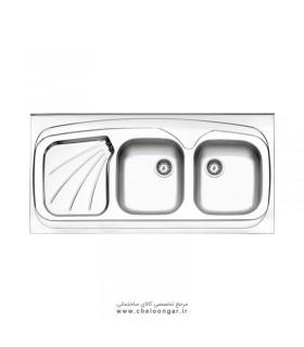 سینک ظرفشویی کد 270 روکار استیل البرز