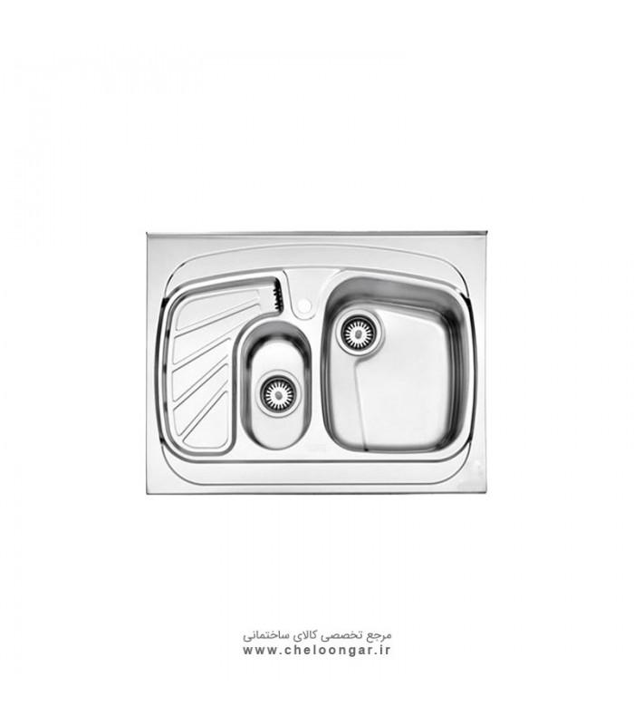سینک ظرفشویی کد 735 روکار استیل البرز