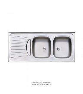 سینک ظرفشویی کد 260 روکار استیل البرز