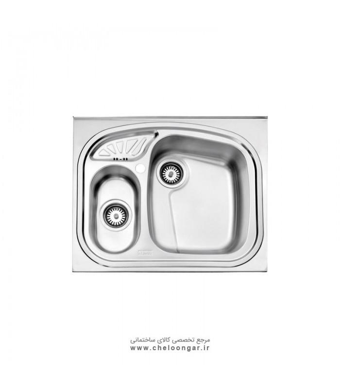سینک ظرفشویی کد 605 روکار استیل البرز