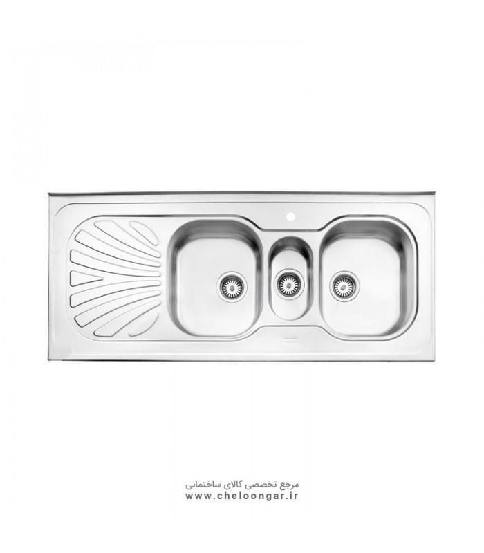 سینک ظرفشویی کد530 روکار استیل البرز