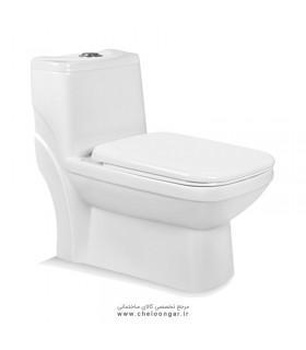 توالت فرنگی بیده دار مروارید مدل یاریس