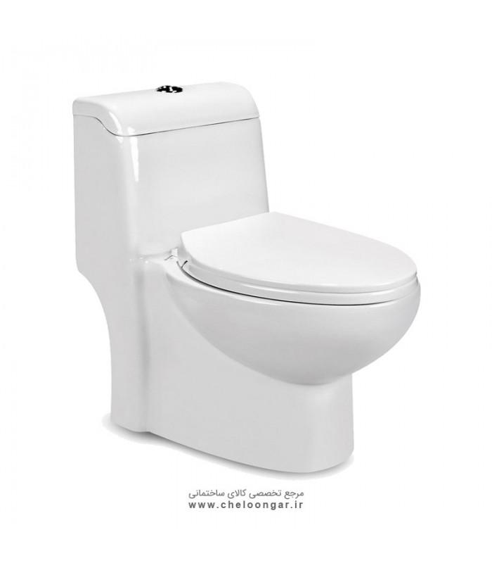 توالت فرنگی بیده دار مروارید مدل ویستا