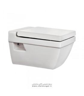 توالت فرنگی وال هنگ بیده دار مروارید مدل سیلویا