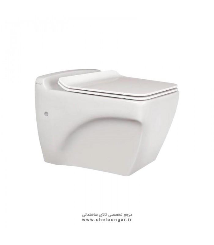 توالت فرنگی وال هنگ بیده دار مروارید مدل کاتیا