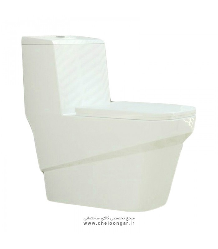 توالت فرنگی بیده دار گلسار مدل یونیک