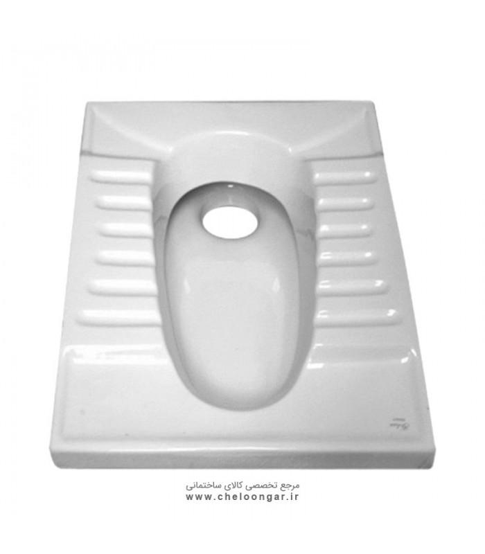توالت زمینی (ایرانی) گلسار مدل گلایل ریم بسته