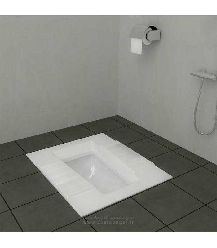 توالت زمینی (ایرانی) گلسار مدل آستر ریم بسته