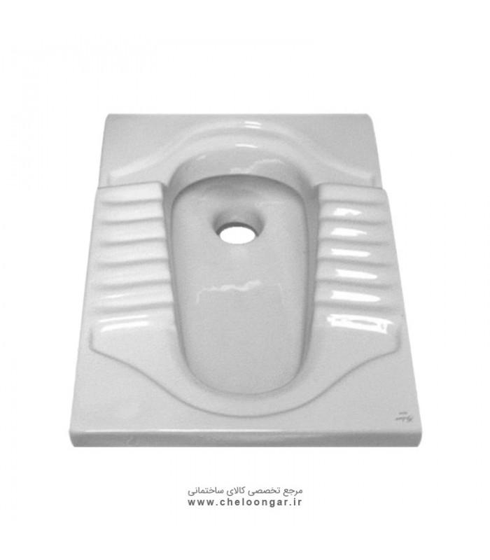 توالت زمینی (ایرانی) گلسار مدل آکوا ریم بسته