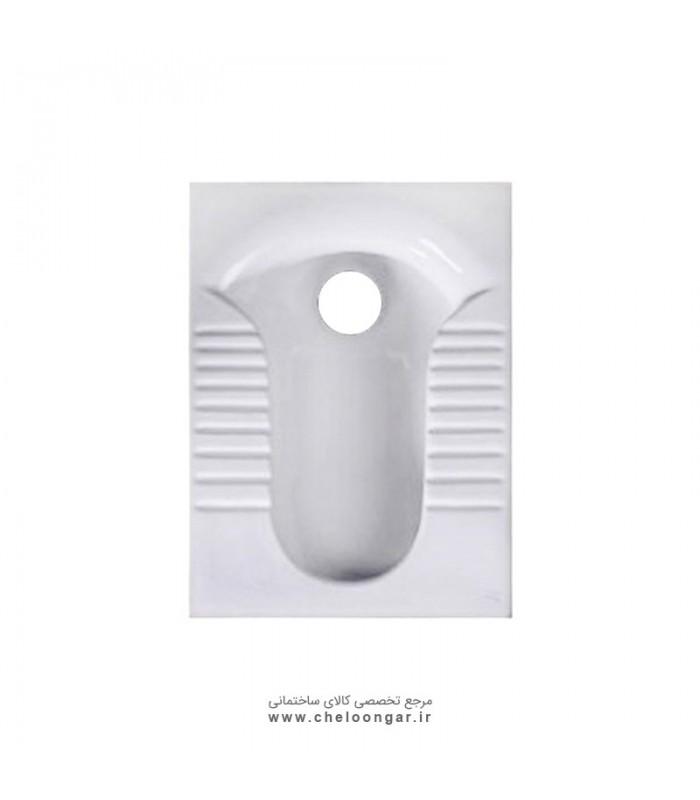 توالت زمینی (ایرانی) گلسار مدل پارمیس ریم بسته