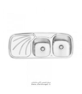 سینک ظرفشویی پرنیان استیل مدل PS1207