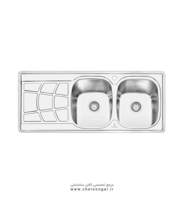 سینک ظرفشویی پرنیان استیل مدل PS1208