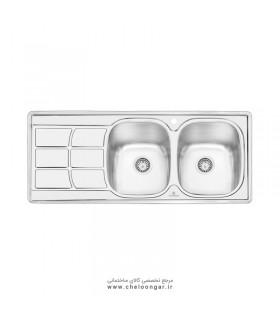 سینک ظرفشویی پرنیان استیل مدل PS1209