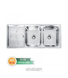 سینک ظرفشویی کد SA38 نگین الماس