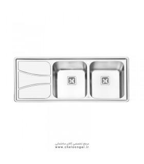 سینک ظرفشویی پرنیان استیل مدل PS1212