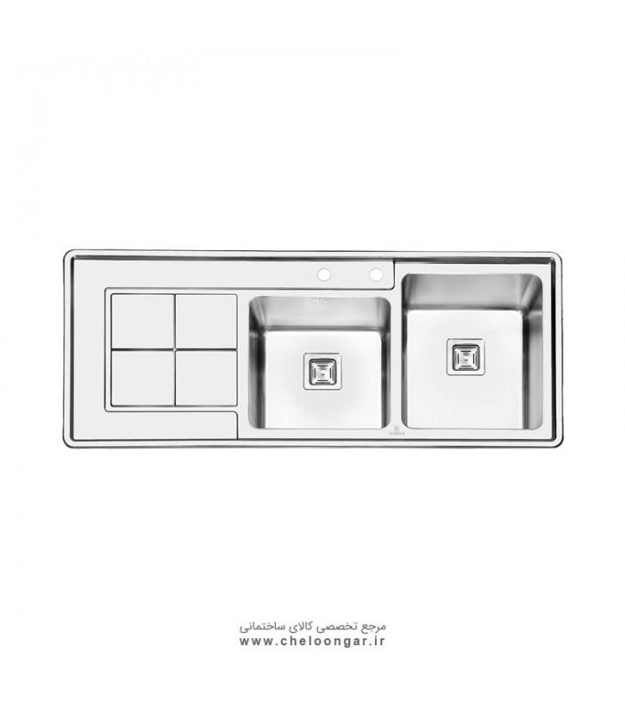 سینک ظرفشویی پرنیان استیل مدل PS1213