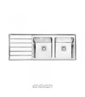 سینک ظرفشویی پرنیان استیل مدل PS1214