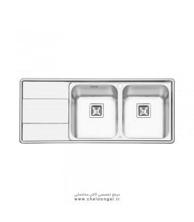 سینک ظرفشویی پرنیان استیل مدل PS1215
