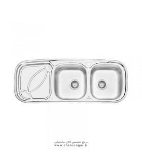 سینک ظرفشویی پرنیان استیل مدل PS2202