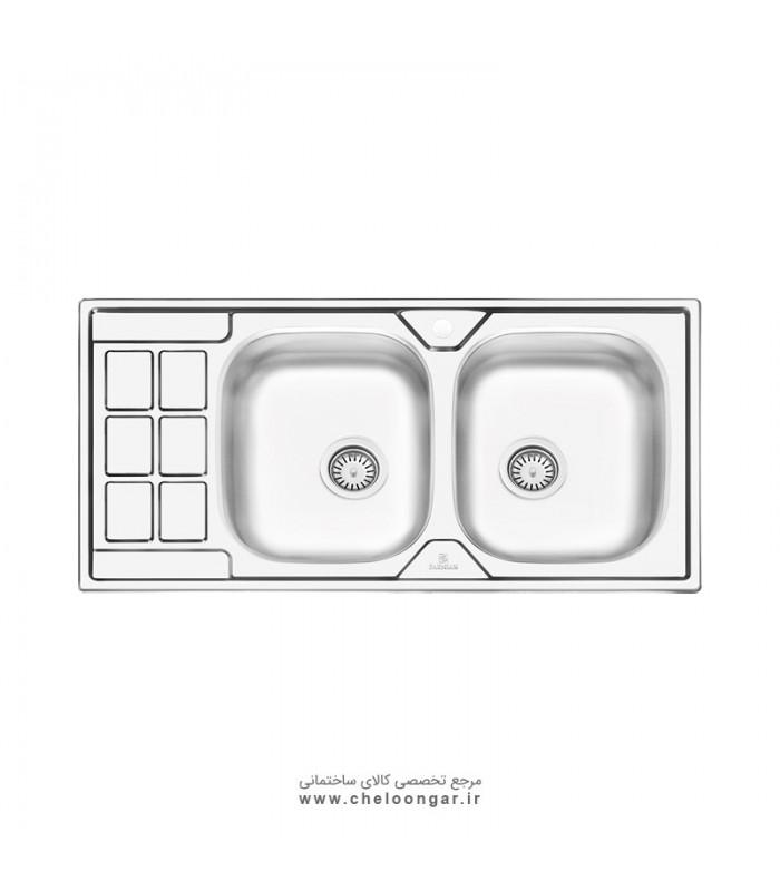 سینک ظرفشویی پرنیان استیل مدل PS2204