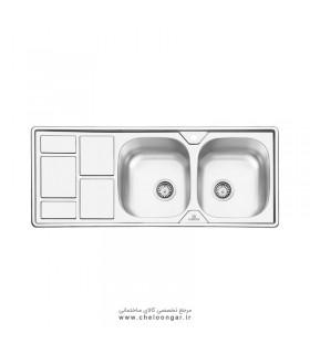 سینک ظرفشویی پرنیان استیل مدل PS2207