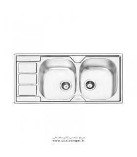 سینک ظرفشویی کد 2051 ایلیا استیل