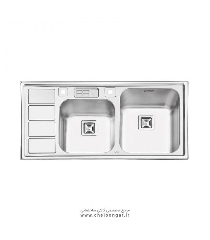 سینک ظرفشویی کد 2052 ایلیا استیل