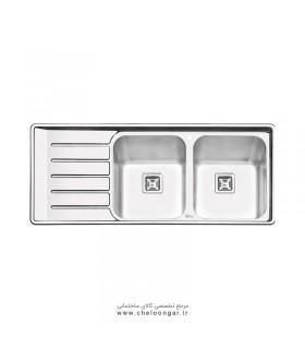 سینک ظرفشویی کد 2060 ایلیا استیل