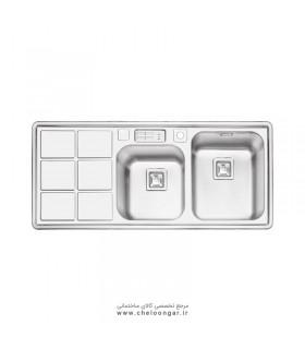 سینک ظرفشویی کد 2065 ایلیا استیل