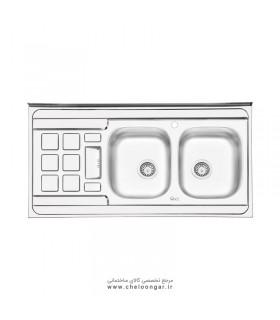 سینک ظرفشویی ایلیا استیل کد 3021